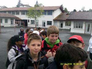 Départ de l'école